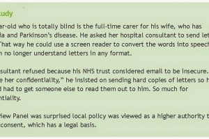 Wouldn't emailing letters to patients be better than posting them?